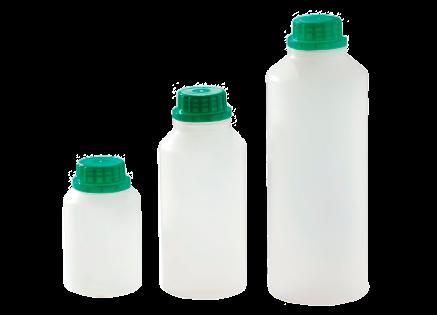 Бутылочка пластиковая PEHD с делениями и пробкой