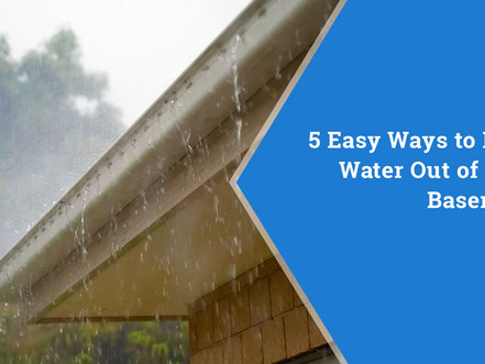 How to keep water, and serious problems, out of your basement!