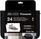884955063460-W&N PROMARKER 24 SET BLACK