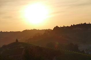 Sonnenuntergang aufgenommen im Piemont im August
