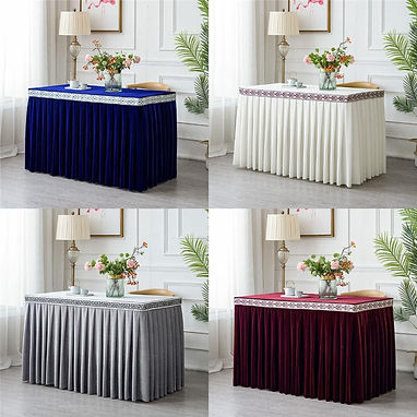 pleated-flannel-hotel-table-skirt-for-ta