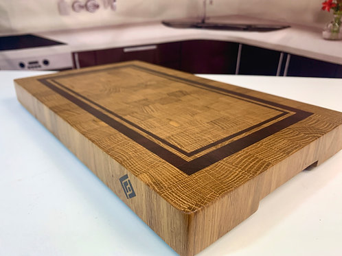CET B004 - Bordered White Oak End Grain Cutting Board