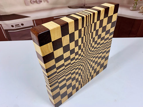 CET 3D003 - 3D Square Perspective End Grain Cutting Board