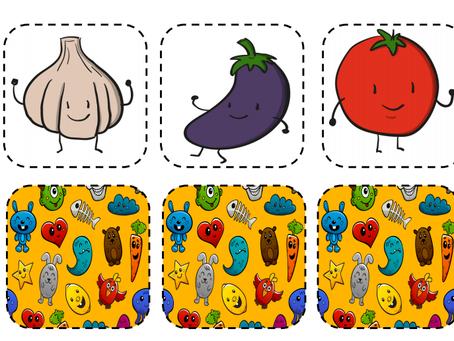 FLASHCARDS warzywa i owoce