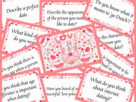 Karty konwersacyjne na Walentynki #bezpłatne