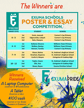 EXUMA PRIDE POSTER COMPETITION WINNERS.p