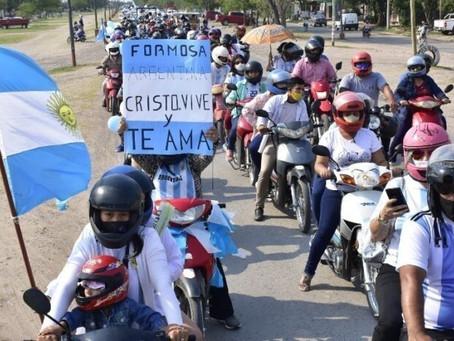 Evangélicos de Formosa en Argentina, salieron a las calles para orar y pedir que abran las iglesias