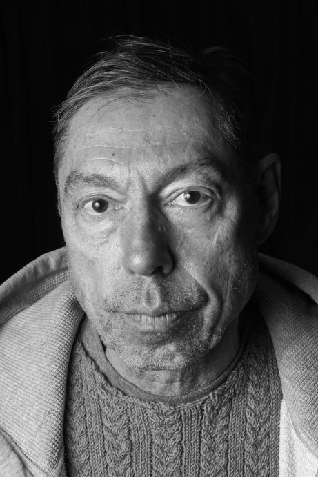 Artist headshot in black and white