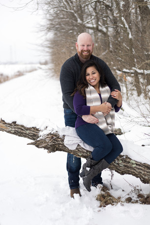 Engagement session in the winter