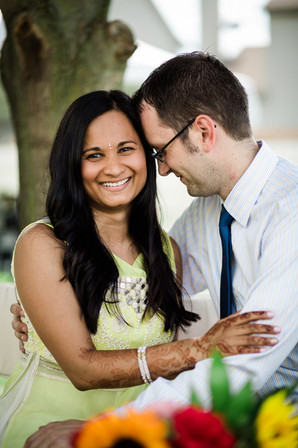 Mehndi couple portrait