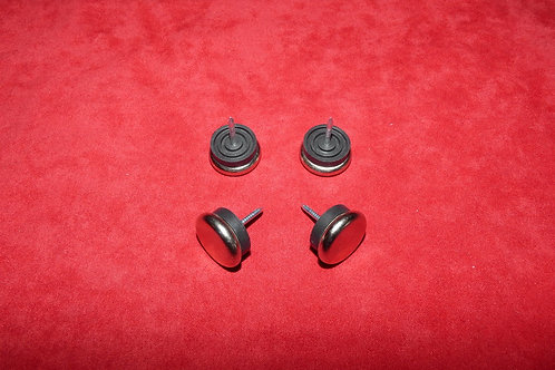 Pieds patins métals (x4)