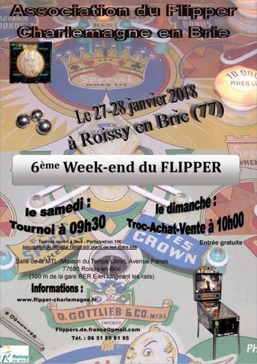6ème weekend du flipper à Roissy en Brie