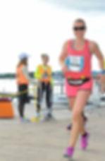 Cecilia runs a marathon