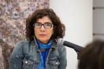 Maribel Arteaga en la ceremonia de inauguración