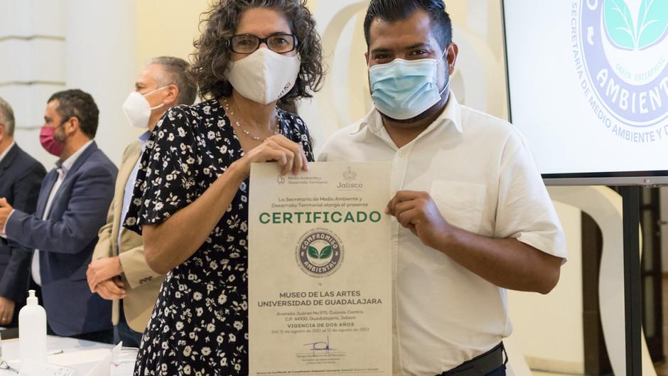 Otorgan al MUSA tercera certificación ambiental de Semadet