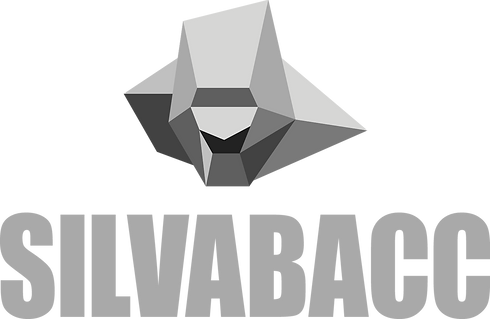 Silvabacc logo in Silver and  Black.png