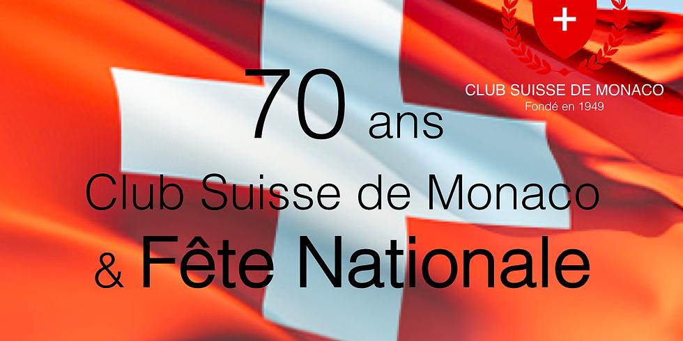 70 ans du Club Suisse de Monaco & Fête Nationale Suisse