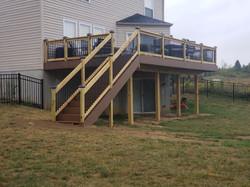 Composite Deck wk/ Wood and Aluminum Railing