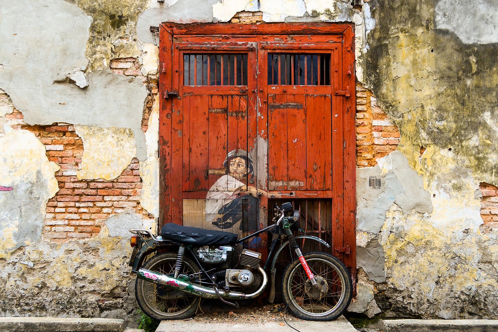 Penang Street Art Old Motorcycle