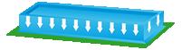 Anagrama de una piscina con desbordamiento total