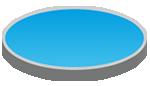 Anagrama de una piscina ovalada
