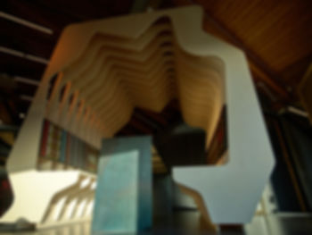 cnc arkitektur furniture interior vitenfabrikken sandnes vitensenter science center children architecture barn arkitektur moll mikal christos hafsahl gjenbruk materialer avkapp linoleum nuart stavanger moderne interior arkitektur unik skulptur organisk form spiselig arkitektur