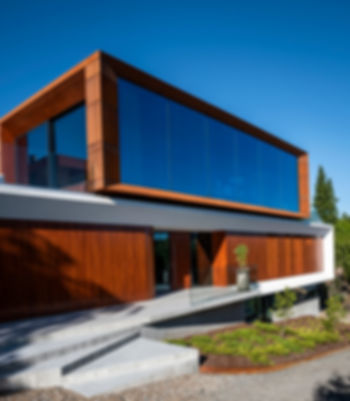 architecture corten design facade wood interior large glass facade contrasts wood oak oil schueco tre eik interior design landskap arkitektur glass betong corten arkitektur store glassfelt solskjerming minimalisme moll mikal christos hafsahl nordisk nordic award
