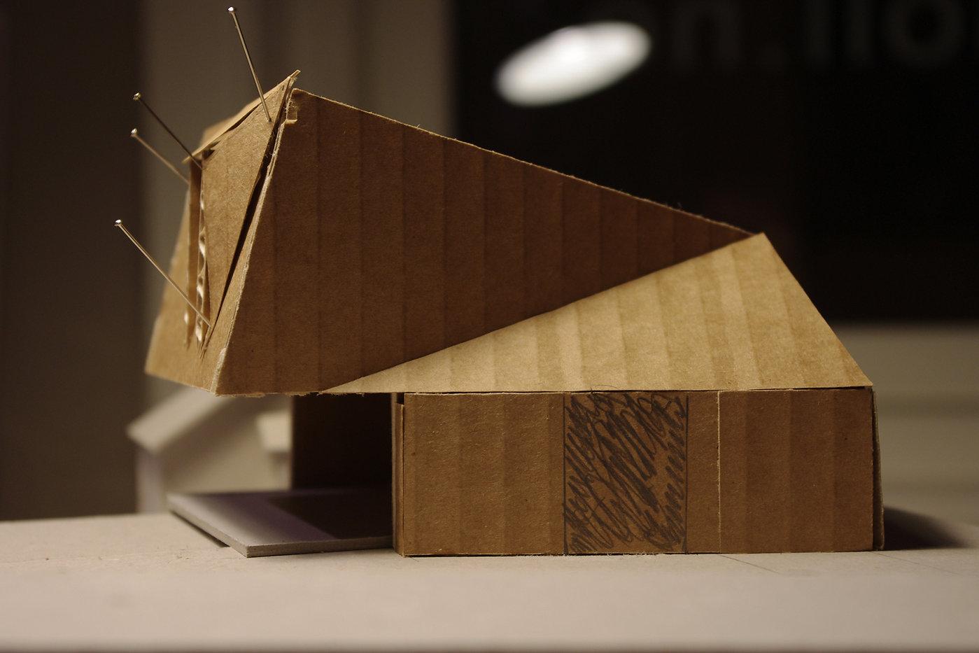 moll mikal christos hafsahl sivilarkitekt ntnu university sketch model architecture scultpture small house