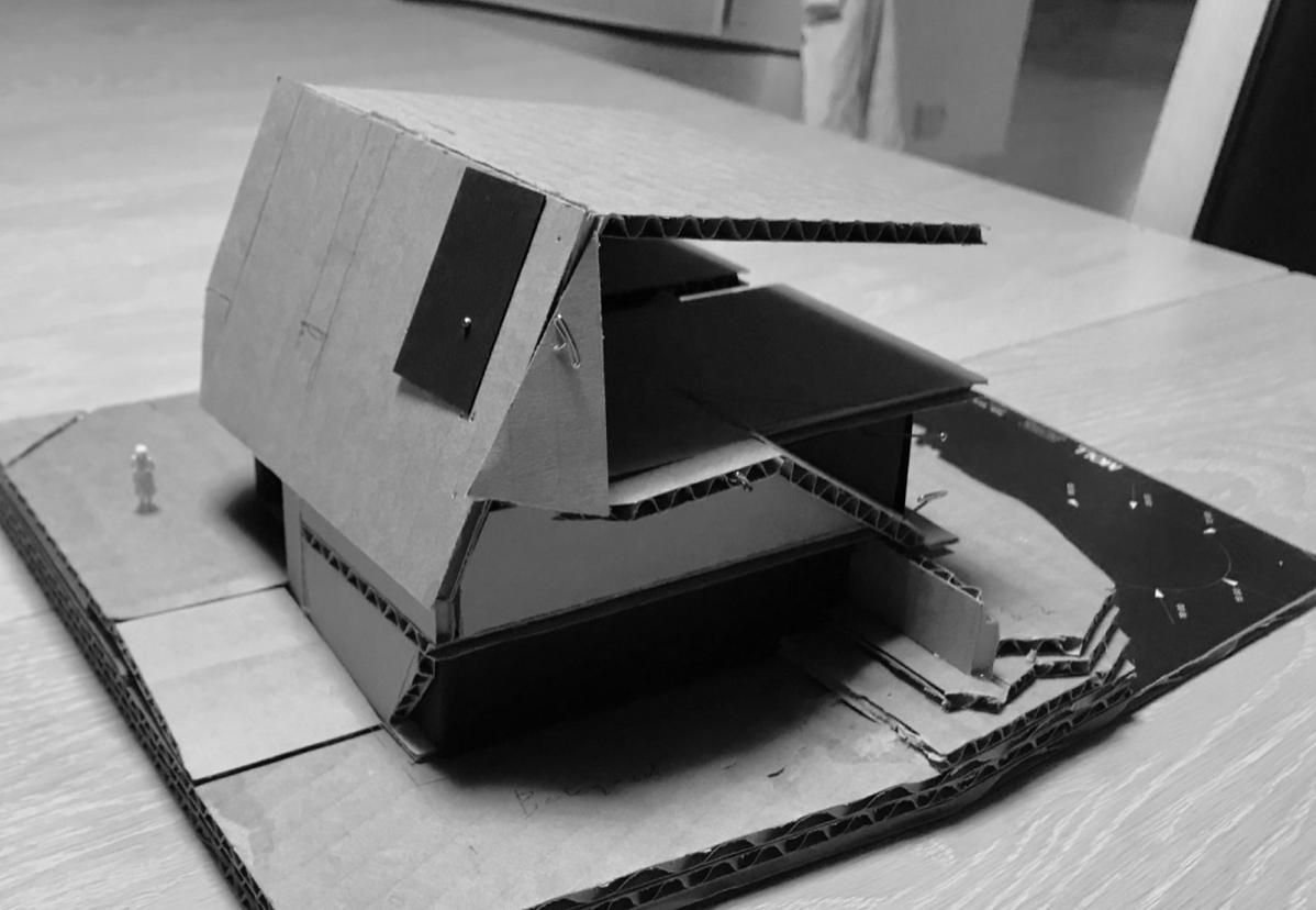 modellstudier pappmodell arkitektur skulptur carboard model moll mikal christos hafsahl