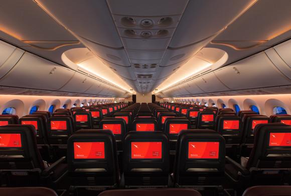Economy, Qantas Dreamliner
