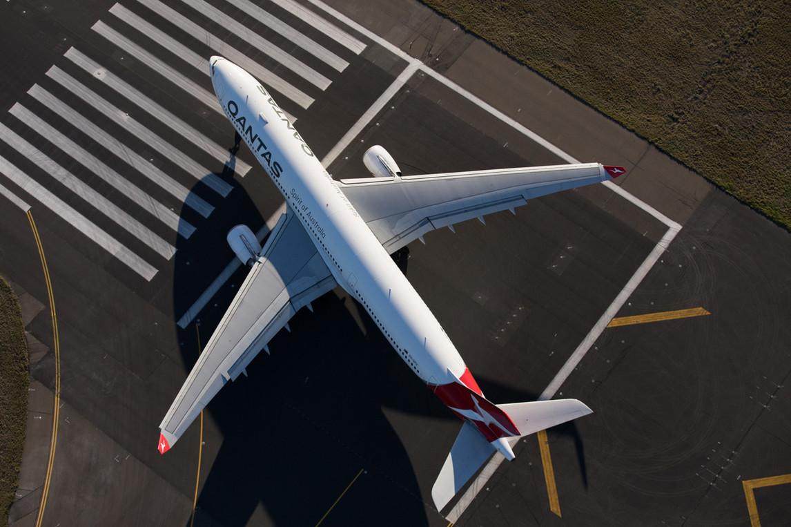 A330 on departure, Sydney