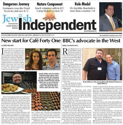 Cover note Jewish Independent