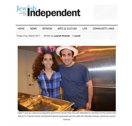 Yamila Chikiar and Daniel Presman. Argentine-style Purim dinner
