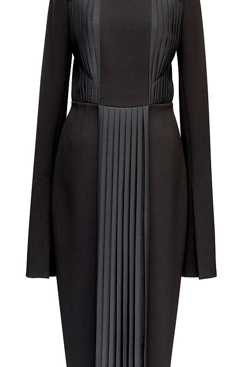 WOOL DRESS - WITH PLEATS