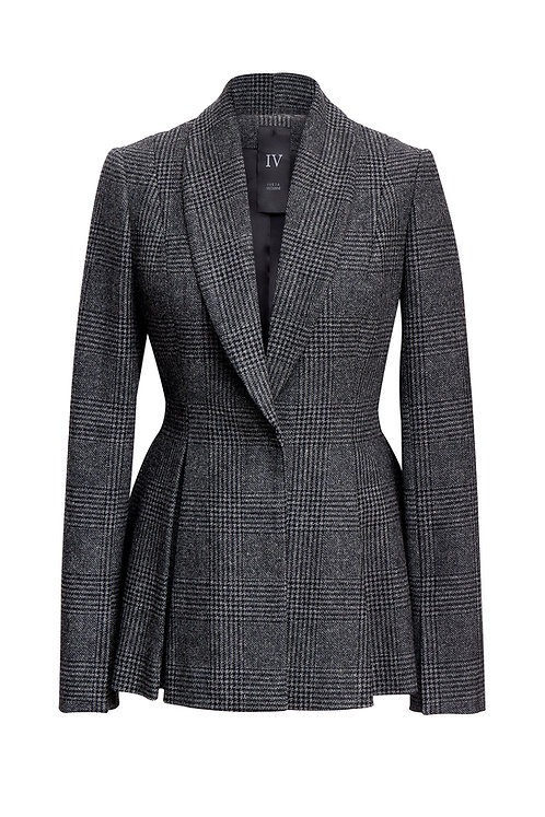 WOOL JACKET WITH OPPOSITE PLEATS