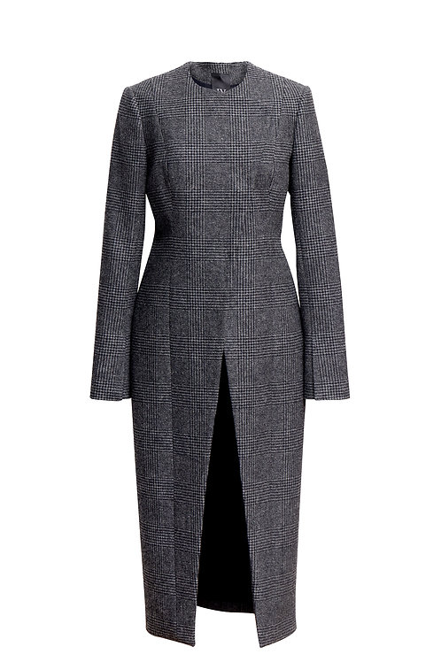 COAT WITH ASYMMETRIC FRONT