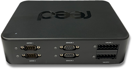 reed CloudBox controller of 2 meters, 2 valves and 2 sensors