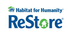 Habitat for Humanity ReStore logo home homegoods furniture building material supplies hardware house
