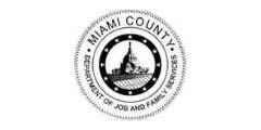 Miami County Job and Family Services logo MCJFS city government children career kid FANS friends allies and neighbors supporter
