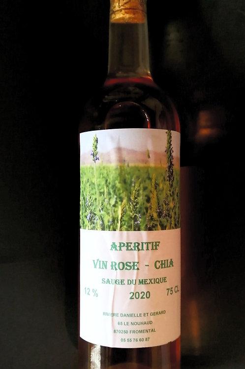 Vin Rosé CHIA  Sauge du Mexique