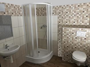Koupelna v Apartmánech Rožmberk