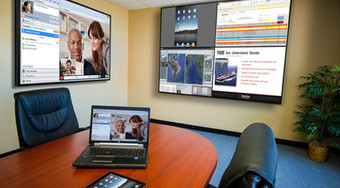 Sala de videoconferencia con soluciones de colaboración