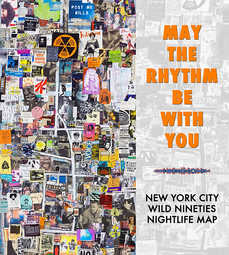 NYC 90s Nightlife Map | Open Edition Print - Medium
