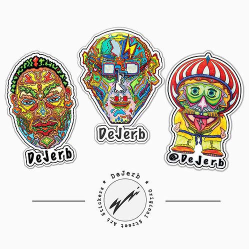 Street Art Stickers | 3 Vinyl Sticker Pack