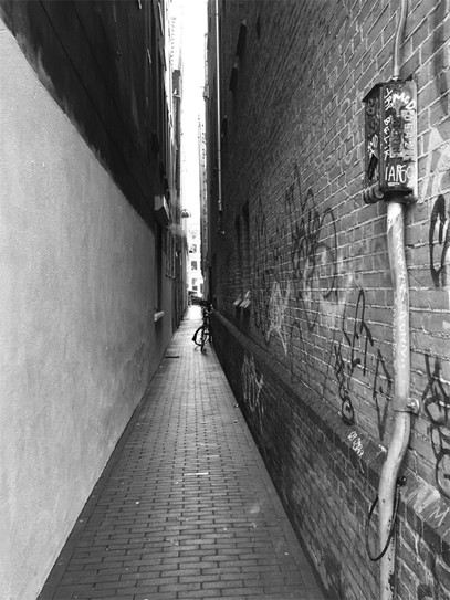 Lighted Alley, Amsterdam