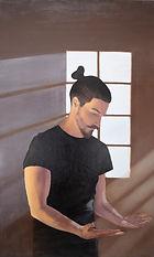 Autoportrait, 70x115cm, huile sur boi