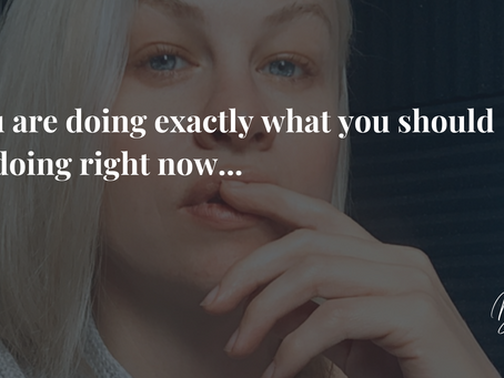 You are doing exactly what you should be doing right now...