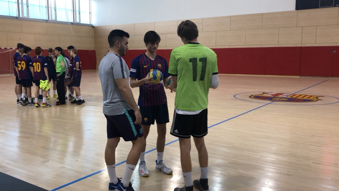 Handball Friendly Games against Barcelona