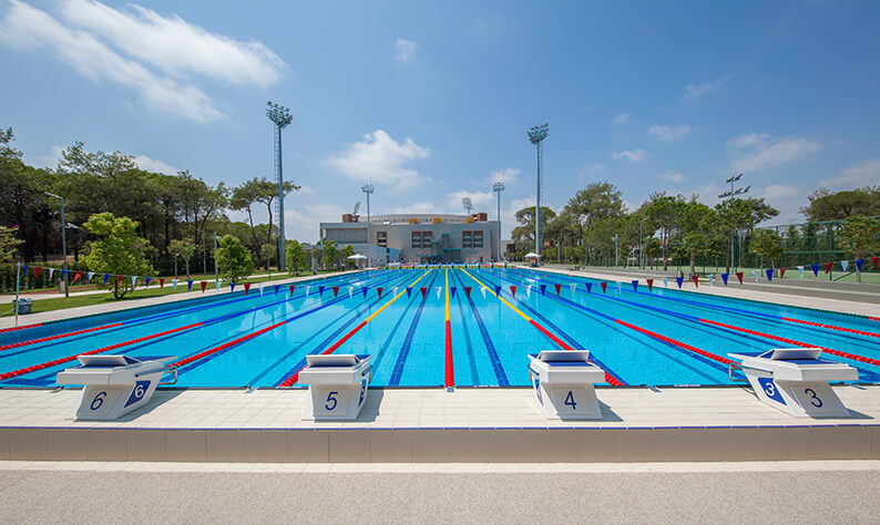 Swimming training camp