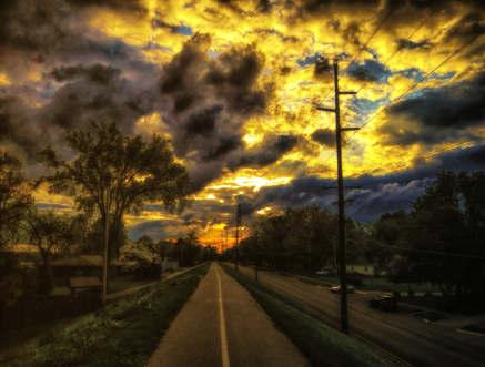 Lingering Warmths at Sunset